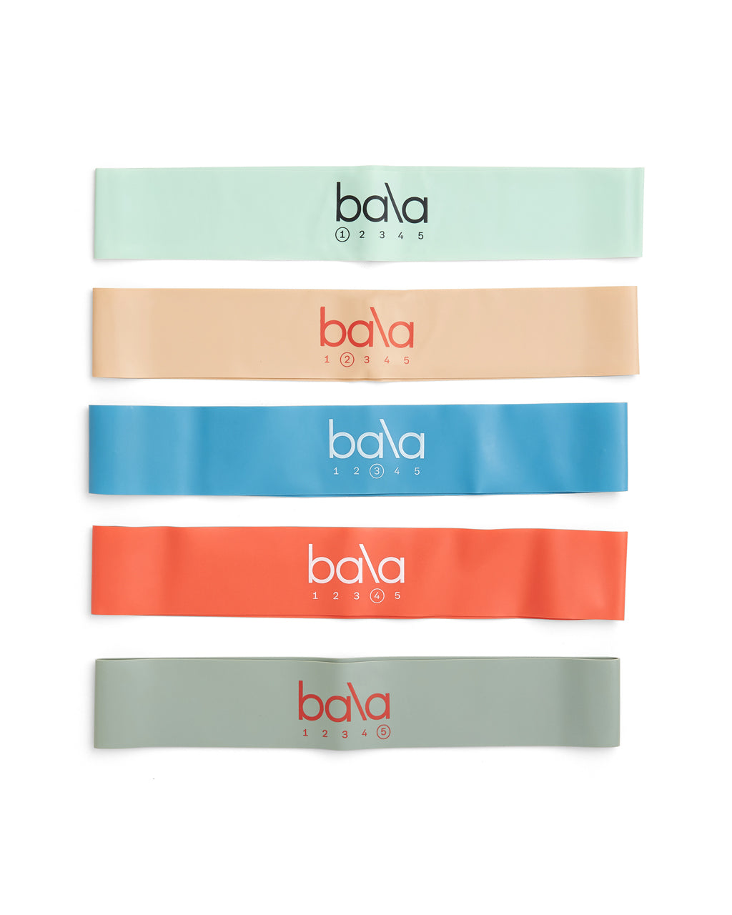Set of 5 bala exercise bands