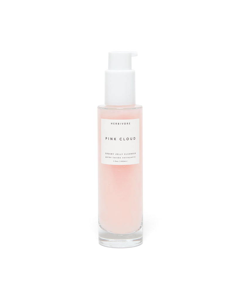 pink cloud cleanser in a 3.3 ounce bottle