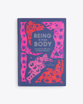 being in your body book cover with a navy base and abstract art
