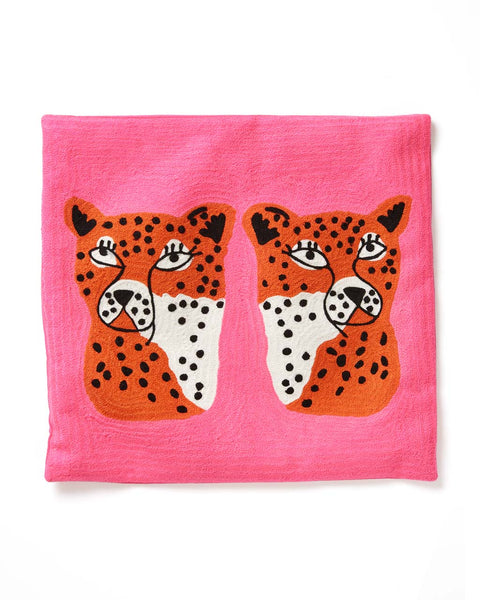 Twinning Cheetahs Pillow Cover by Ban.Do