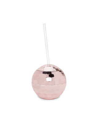 disco ball tumbler - rose gold
