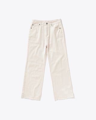 off white flare crop jeans