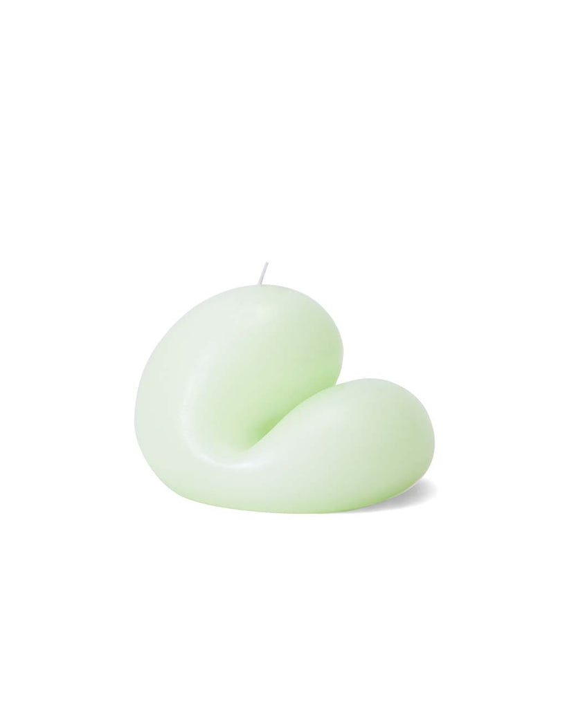 This Goober candle by Talbot & Yoon comes in a mint green color.