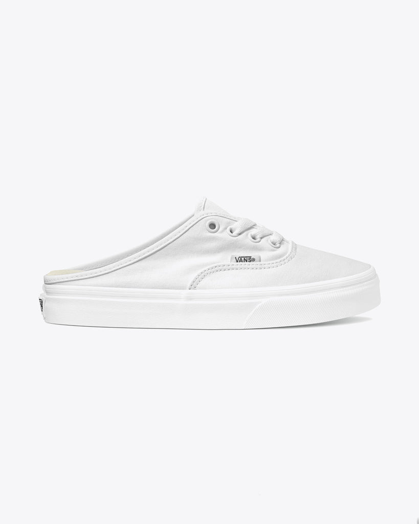 vans authentic slip on mule in white