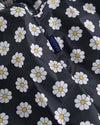 detailed image of black large baggu with a white daisy pattern
