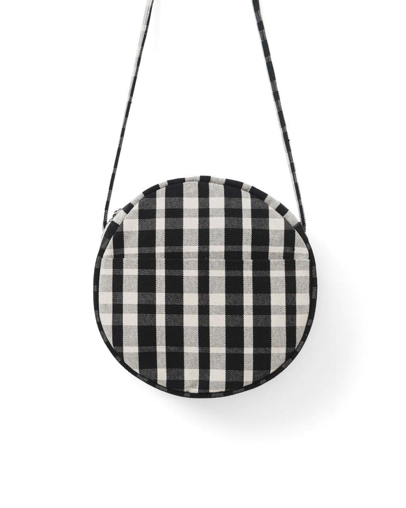 Canvas Circle Purse - Plaid