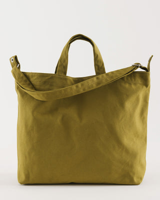 tote bag with short handles and long adjustable shoulder strap in lentil yellow