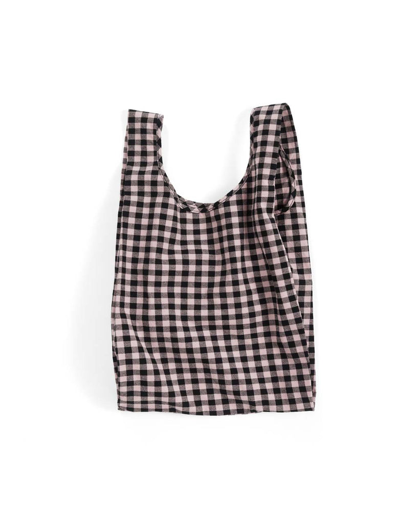 Medium Canvas Baggu - Blush Gingham