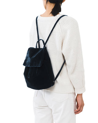 velvet mini backpack - indigo