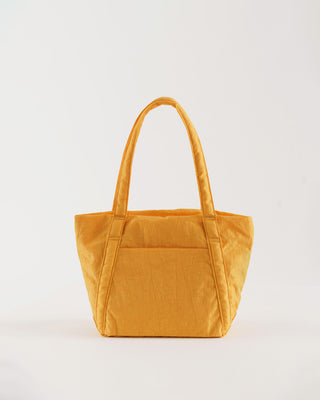 apricot yellow nylon back with handles