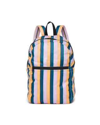 ripstop backpack - peach 90s stripe