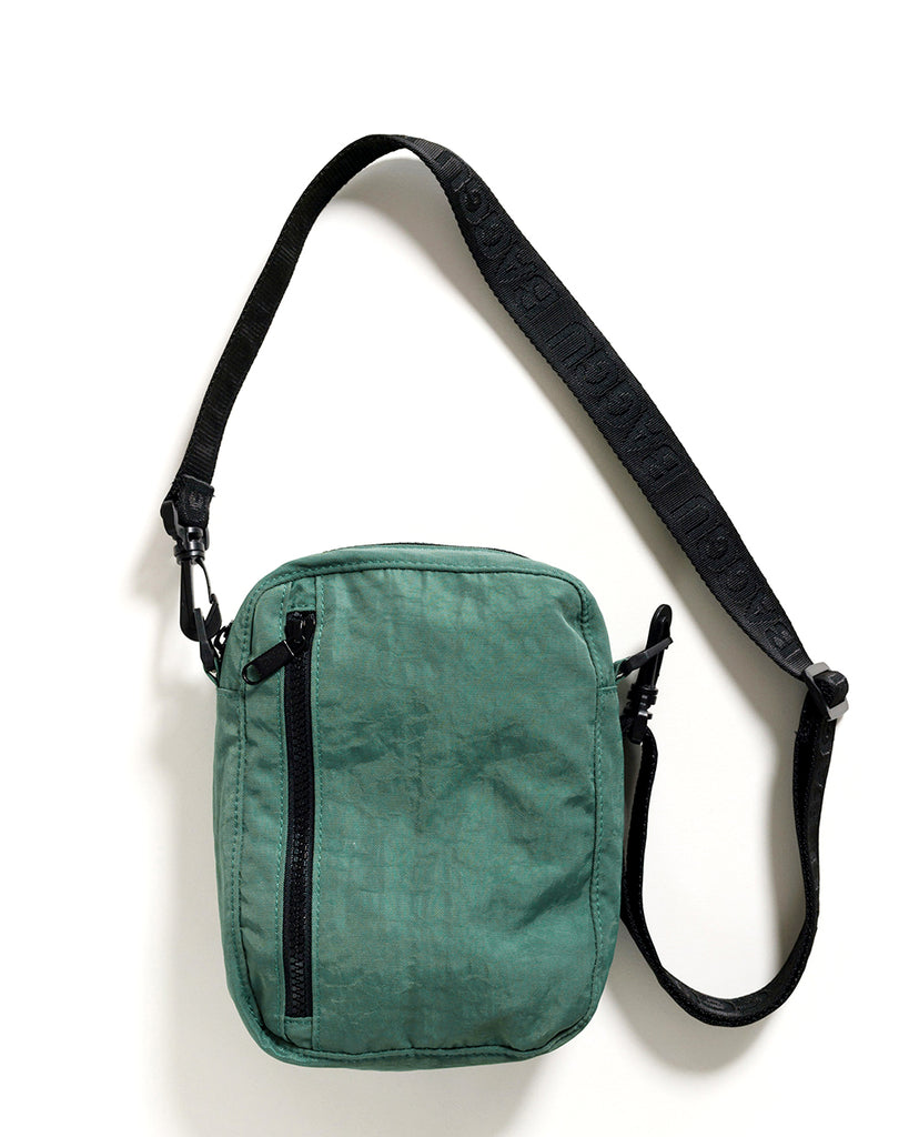 Eucalyptus colored crossbody with a 45 inch strap