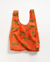 Standard baggu size featured in a bright orange color with a bengal cat design