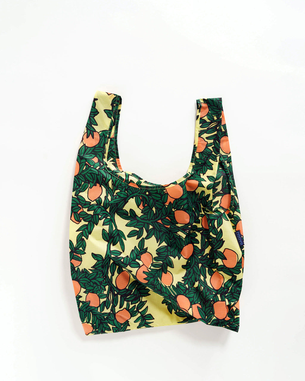 standard baggu with an orange tree pattern