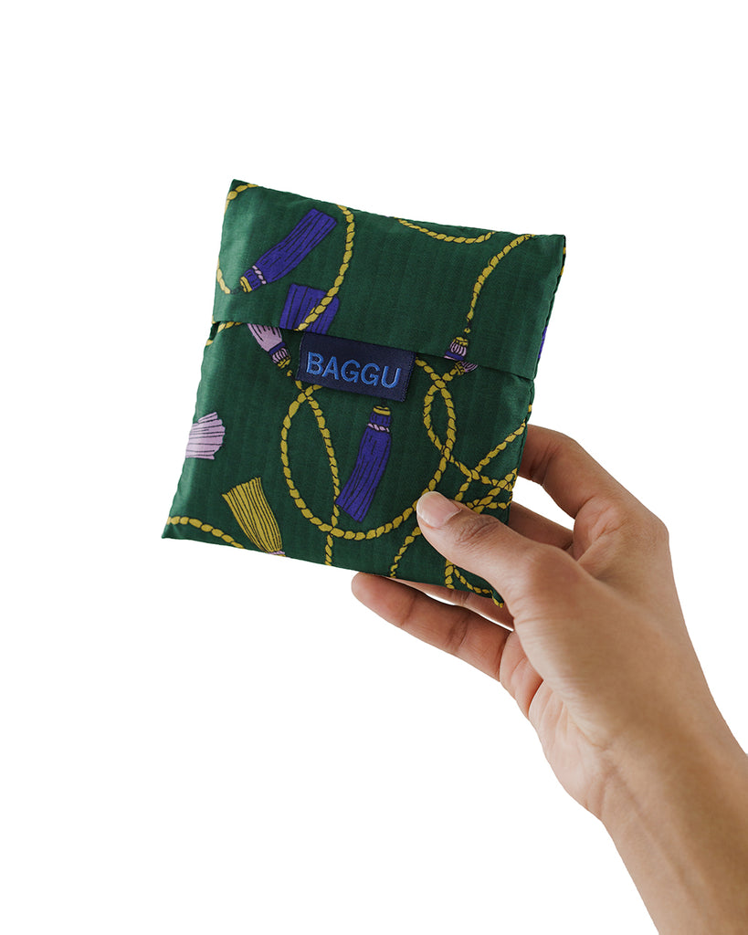 Folds into small 6 inch square pouch that's perfect for traveling, grocery shopping, and more.