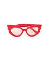 retro cat eye - red