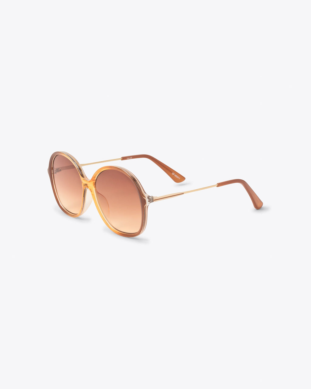 side view of metal stems on oversized vintage sunglasses