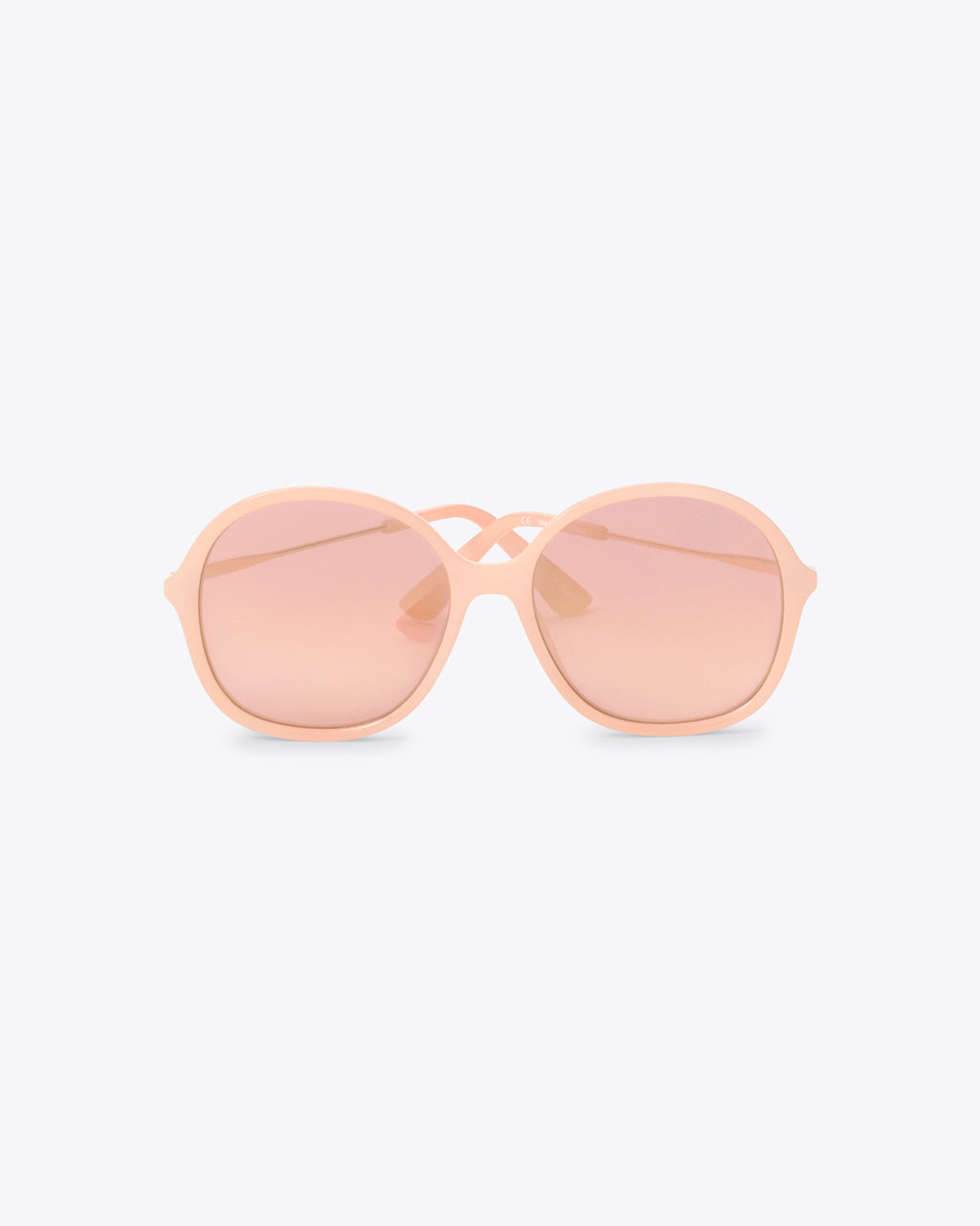oversized sunglasses with pink lenses
