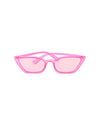Transparent pink sunglasses with pink lenses