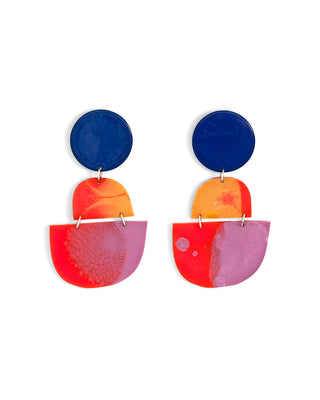 horizon earrings - red