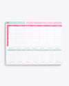 Large notepad used for tracking health and wellness