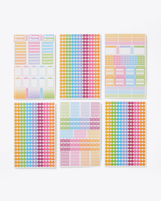 Multi colored stickers for planners and notebooks