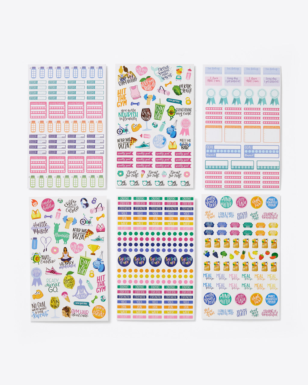 6 sheets of assorted stickers