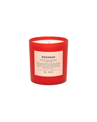 redhead candle - holiday red