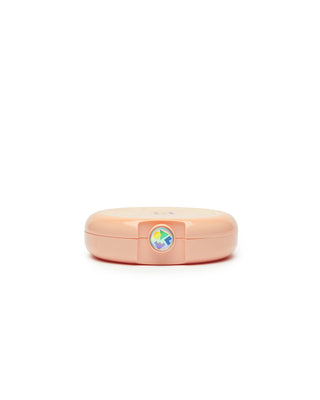 small round caboodles makeup case - peach