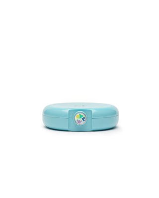 small round caboodles makeup case - teal