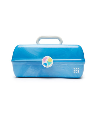 large caboodles makeup case - blue marble
