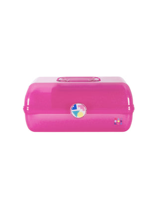 large caboodles makeup case  - hot pink sparkle