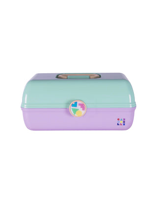 large caboodles makeup case - seafoam & lilac