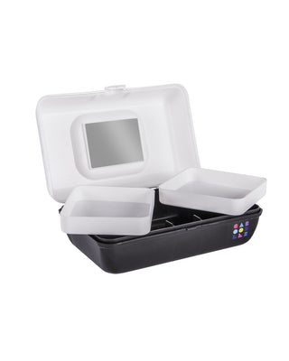 small caboodles makeup case - white & black