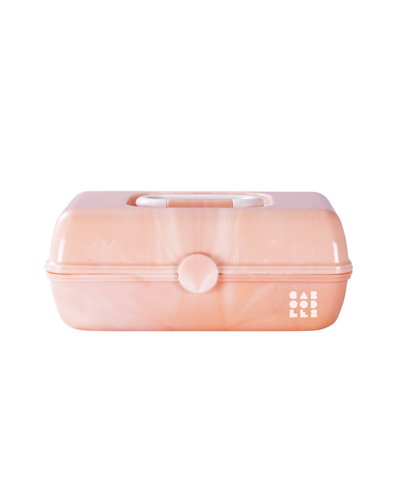 small caboodles makeup case - peach marble