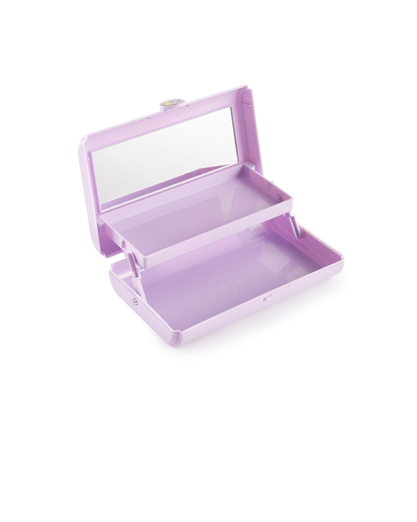 small rectangular caboodles makeup case - purple