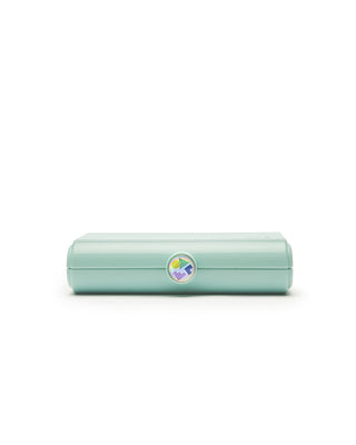 small rectangular caboodles makeup case - seafoam