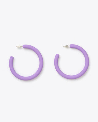 matte purple hoop earrings