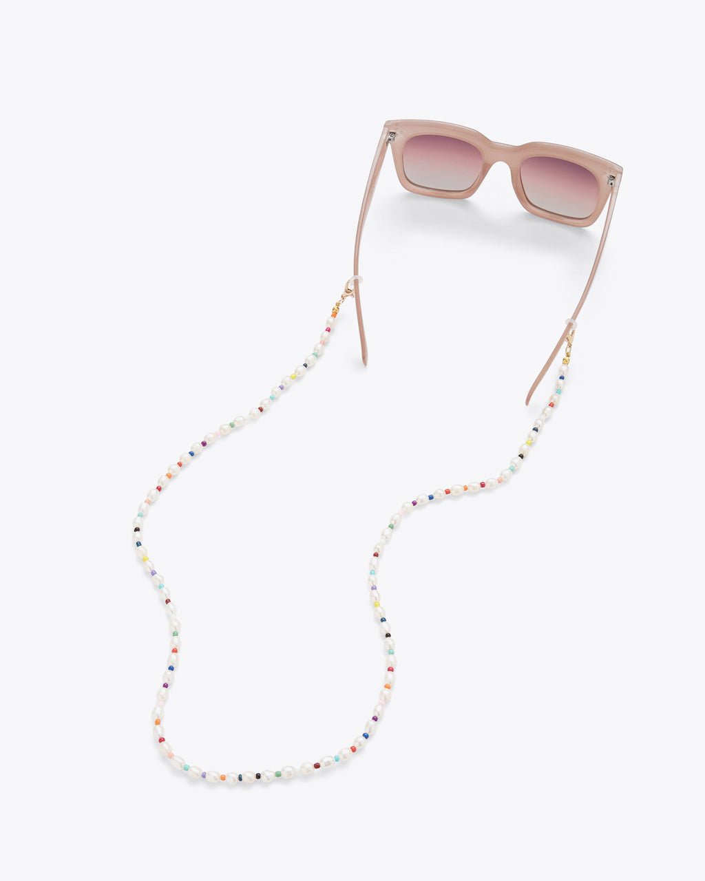 beaded accessory chain shown with sunglasses