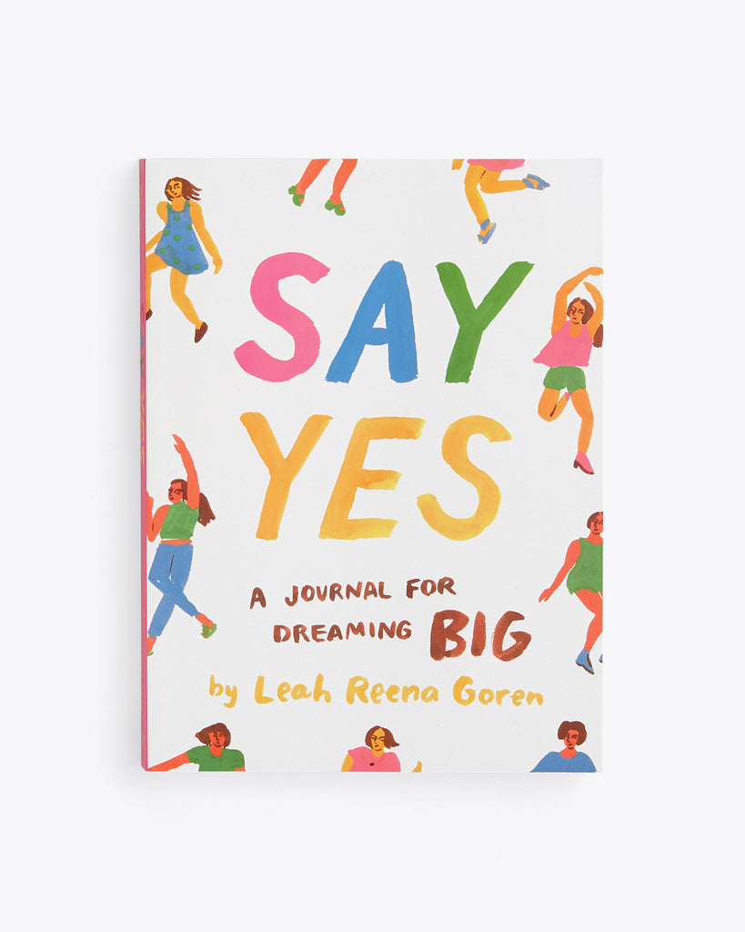 say yes book with a journal format by Leah Reena Goren