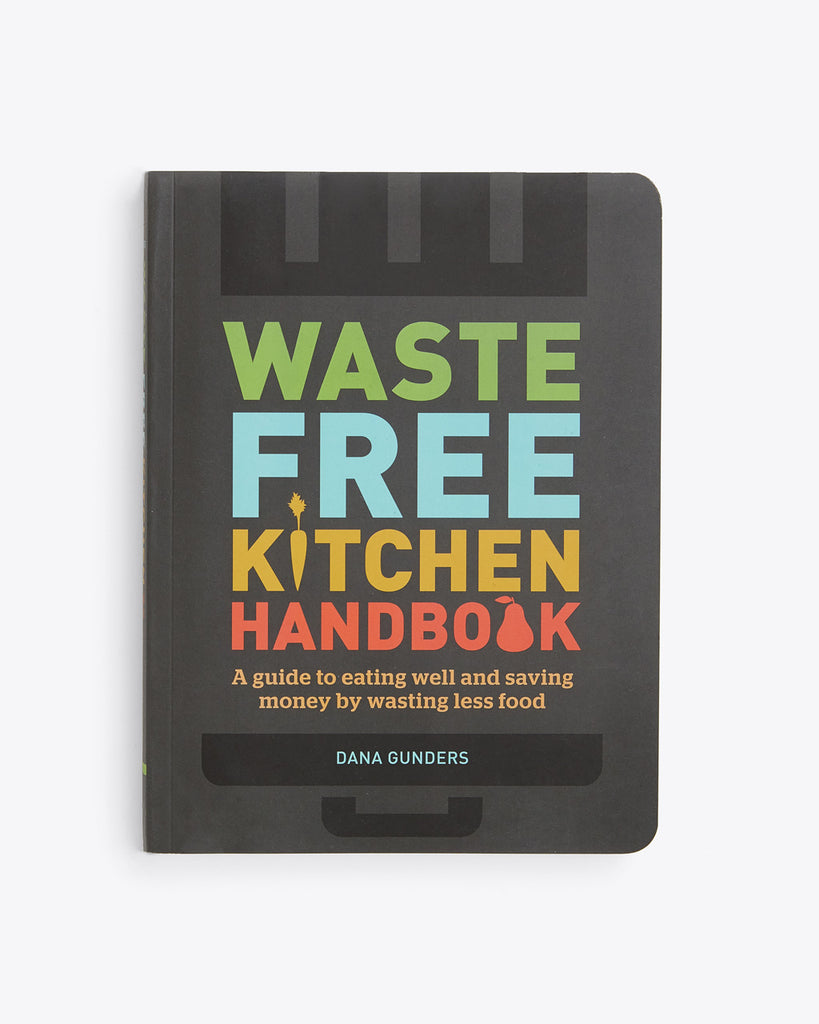 waste free kitchen handbook with a black hard cover