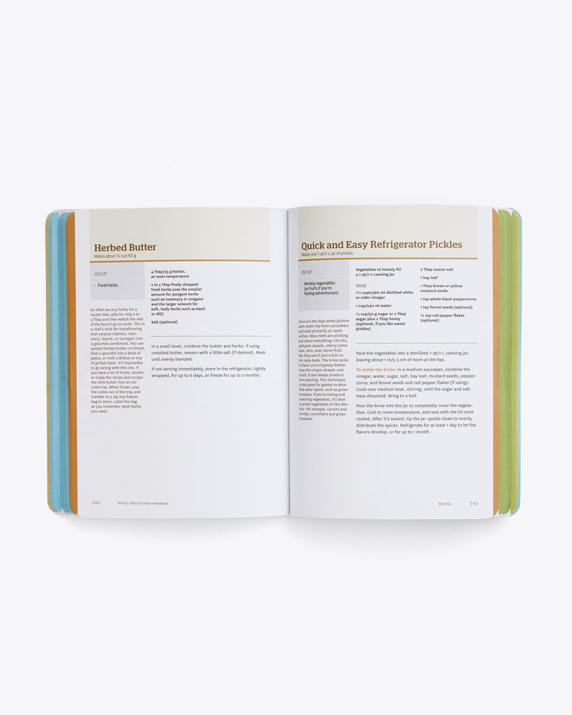interior image of 2 recipes featured in the book