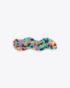 multi colored confetti designed barrette