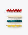 4 pack of line shaped barrettes
