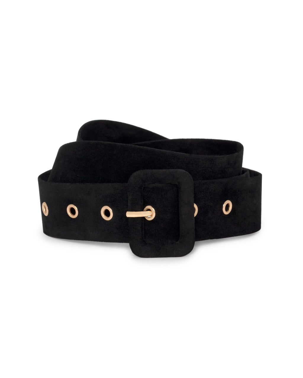 Black belt with square buckle.