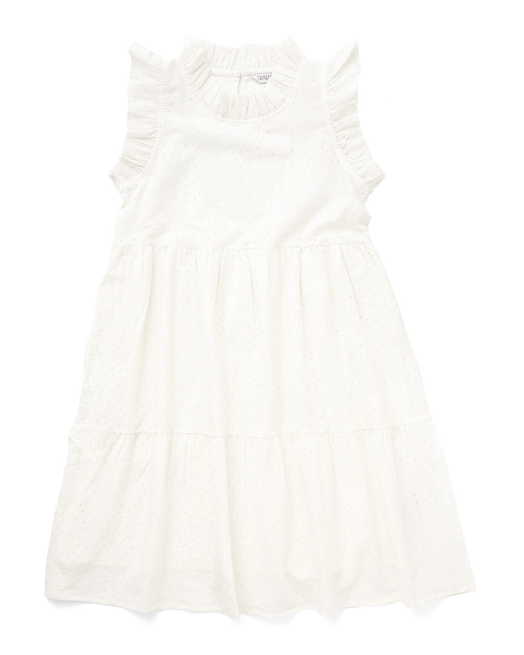 white ruffle tank dress with tiered layers