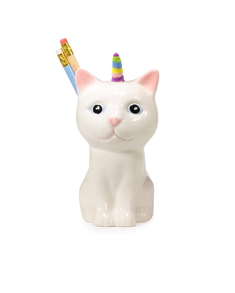 pencil cup - caticorn