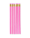 pink velvet pretty pencils - 6 pack