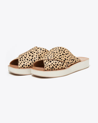 small platform sandals with tan leopard straps