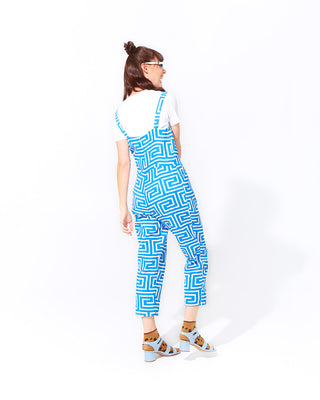 level tank jumpsuit - blue key